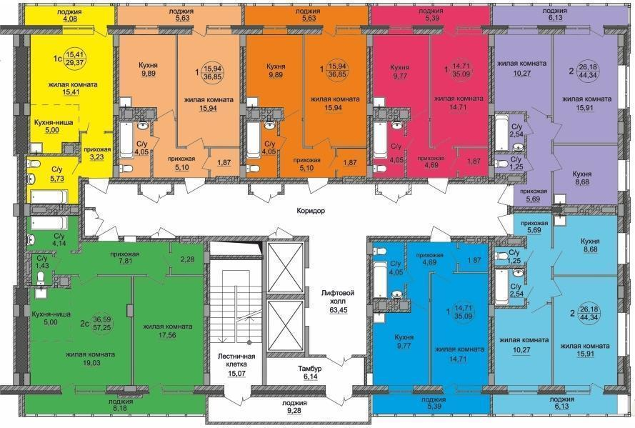 Дом №2 - секция 1.1. Сдача - 4 кв. 2016г.