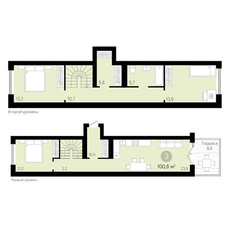 Вариант №3430, 3-комнатная квартира в жилом комплексе Европейский Берег