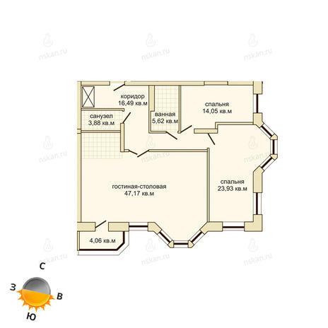 Вариант №503, 4-комнатная квартира в жилом комплексе Montblanc