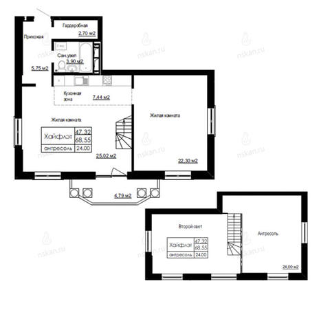 Вариант №2517, 3-комнатная квартира в жилом комплексе На Березовой роще