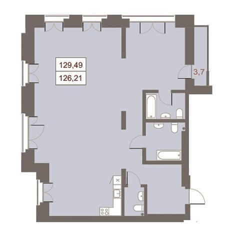 Вариант №2869, 4-комнатная квартира в жилом комплексе Жуковка