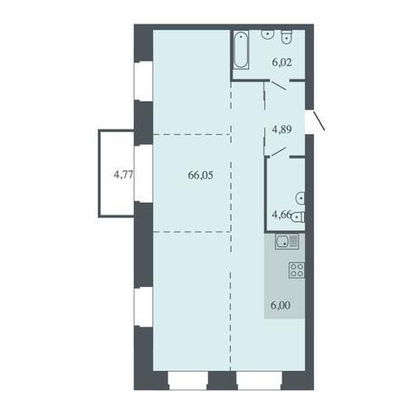 Вариант №4489, 4-комнатная квартира в жилом комплексе Спектр