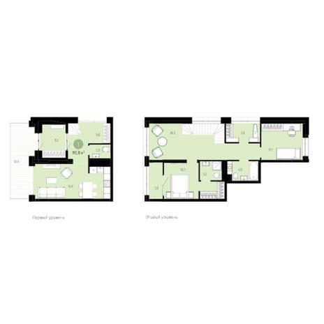 Вариант №6017, 3-комнатная квартира в жилом комплексе