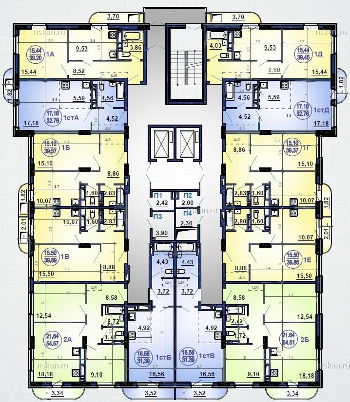 ПЛАНИРОВКА 5-17 этажи