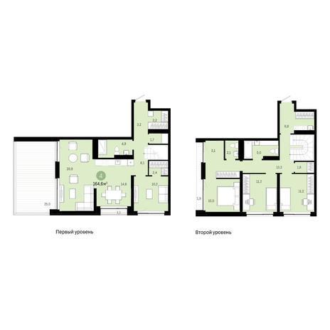 Вариант №6389, 5-комнатная квартира в жилом комплексе