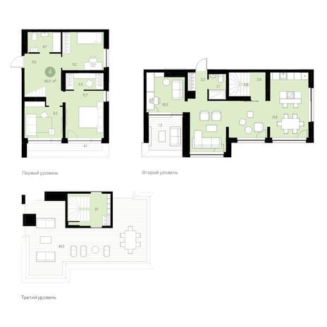 Вариант №4689, 5-комнатная квартира в жилом комплексе