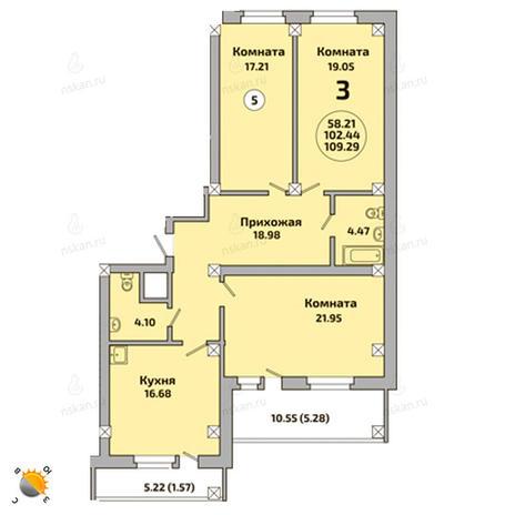 Вариант №2006, 4-комнатная квартира в жилом комплексе Родники