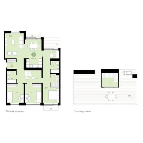 Вариант №4680, 4-комнатная квартира в жилом комплексе Жуковка