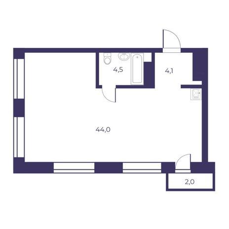Вариант №5300, 3-комнатная квартира в жилом комплексе