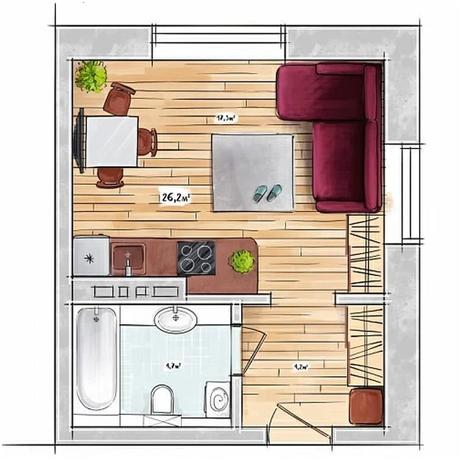Вариант №3946, 1-комнатная квартира в жилом комплексе БонАпарт