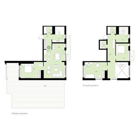 Вариант №4656, 4-комнатная квартира в жилом комплексе Пшеница