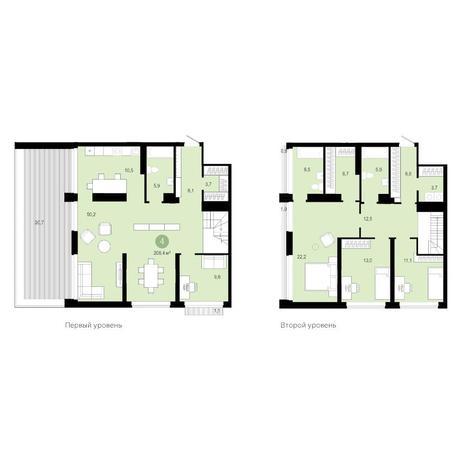 Вариант №4594, 5-комнатная квартира в жилом комплексе Европейский Берег
