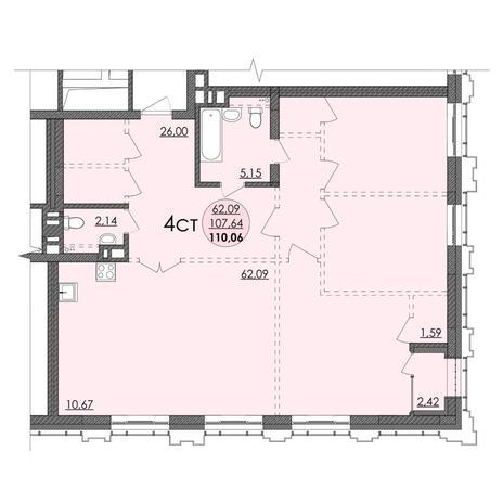 Вариант №4739, 4-комнатная квартира в жилом комплексе Richmond Residence