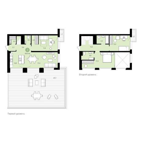 Вариант №5538, 4-комнатная квартира в жилом комплексе