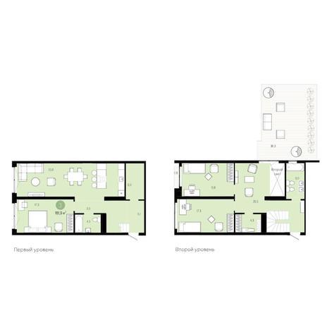 Вариант №6274, 4-комнатная квартира в жилом комплексе