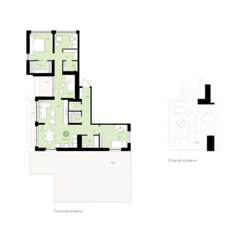 Вариант №5996, 4-комнатная квартира в жилом комплексе