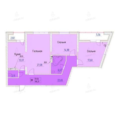 Вариант №953, 3-комнатная квартира в жилом комплексе Беркут хаус
