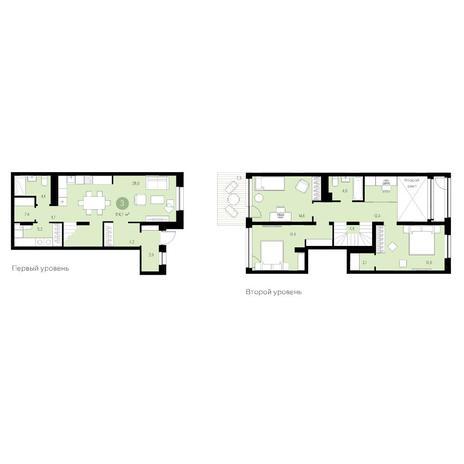 Вариант №4711, 4-комнатная квартира в жилом комплексе Европейский Берег