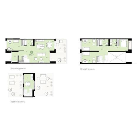 Вариант №6255, 5-комнатная квартира в жилом комплексе
