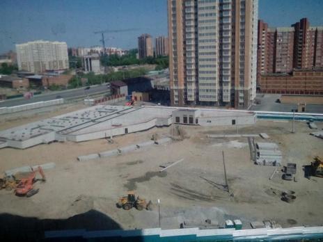 Август 2016, перед началом строительства