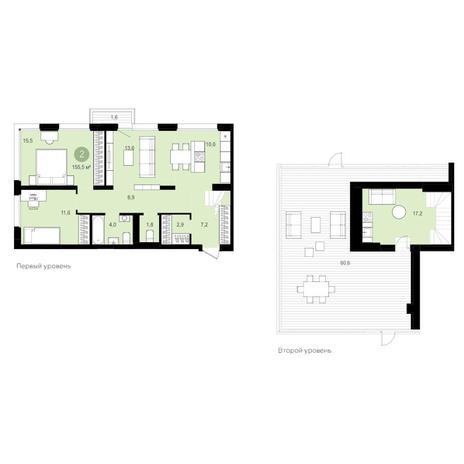 Вариант №4170, 4-комнатная квартира в жилом комплексе Montblanc