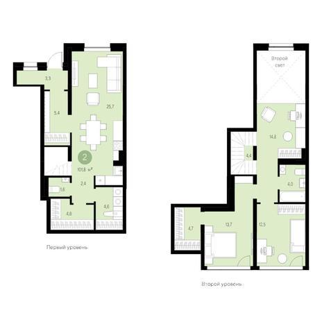Вариант №4622, 4-комнатная квартира в жилом комплексе Европейский Берег