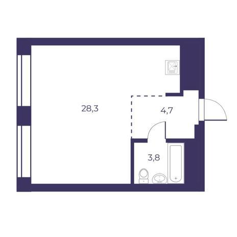 Вариант №5313, 2-комнатная квартира в жилом комплексе Ясный берег