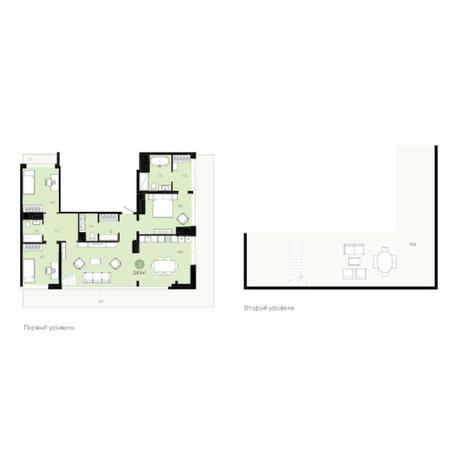 Вариант №6022, 4-комнатная квартира в жилом комплексе