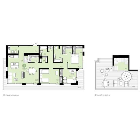 Вариант №4184, 4-комнатная квартира в жилом комплексе Flora & Fauna
