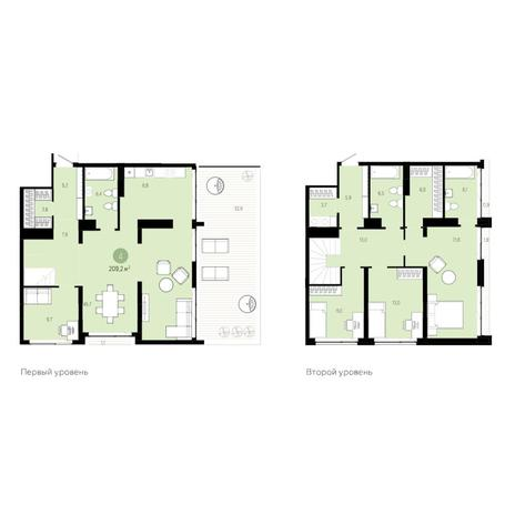 Вариант №6273, 5-комнатная квартира в жилом комплексе