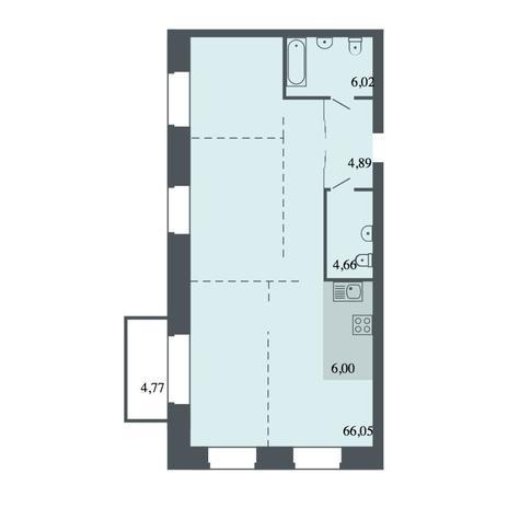Вариант №4490, 4-комнатная квартира в жилом комплексе Спектр