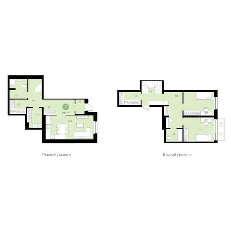 Вариант №4712, 3-комнатная квартира в жилом комплексе