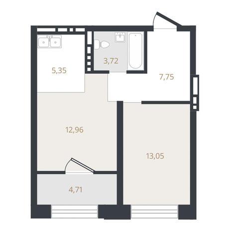 Вариант №3321, 2-комнатная квартира в жилом комплексе Ясный берег