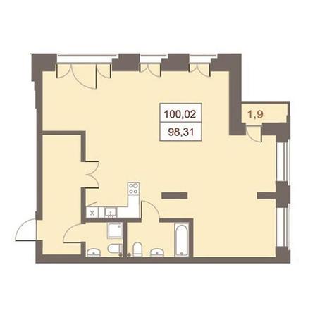 Вариант №2865, 4-комнатная квартира в жилом комплексе Дом на Чаплыгина