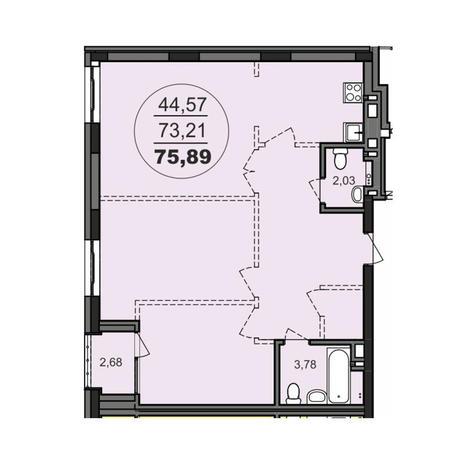 Вариант №3711, 2-комнатная квартира в жилом комплексе Richmond Residence