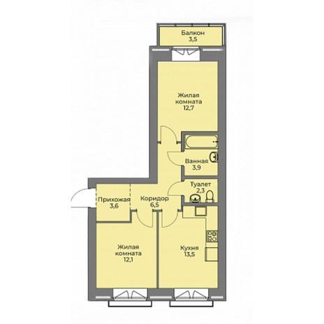 Вариант №4403, 2-комнатная квартира в жилом комплексе Эскимо