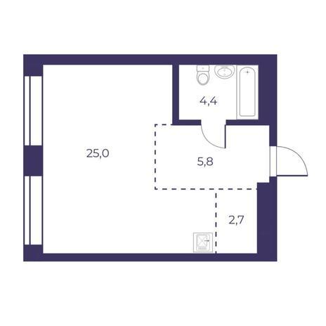 Вариант №5301, 2-комнатная квартира в жилом комплексе