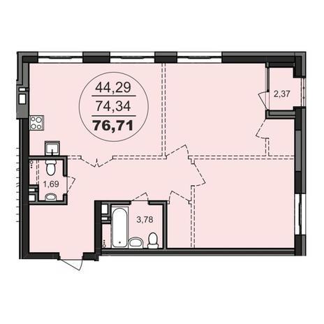 Вариант №3704, 2-комнатная квартира в жилом комплексе Richmond Residence