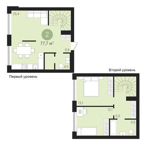 Вариант №3486, 3-комнатная квартира в жилом комплексе На Декабристов