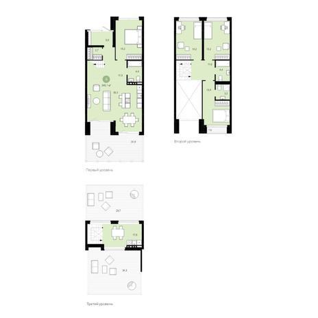 Вариант №4597, 5-комнатная квартира в жилом комплексе Европейский Берег