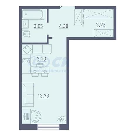 Вариант №3730, 1-комнатная квартира в жилом комплексе Радуга Сибири
