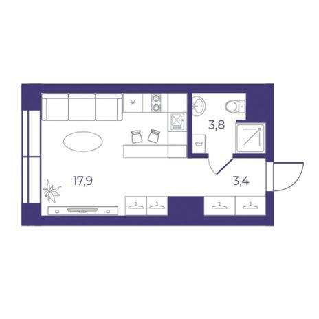 Вариант №5311, 1-комнатная квартира в жилом комплексе