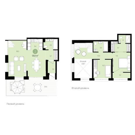 Вариант №6279, 3-комнатная квартира в жилом комплексе