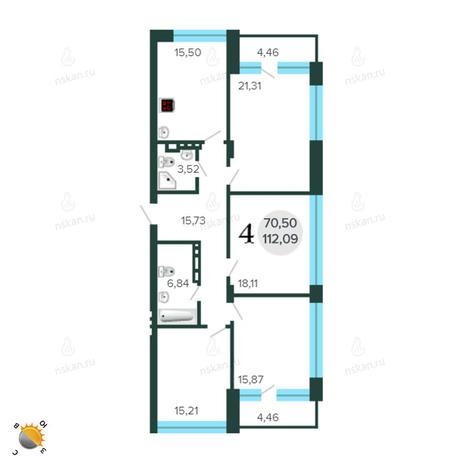 Вариант №2285, 5-комнатная квартира в жилом комплексе