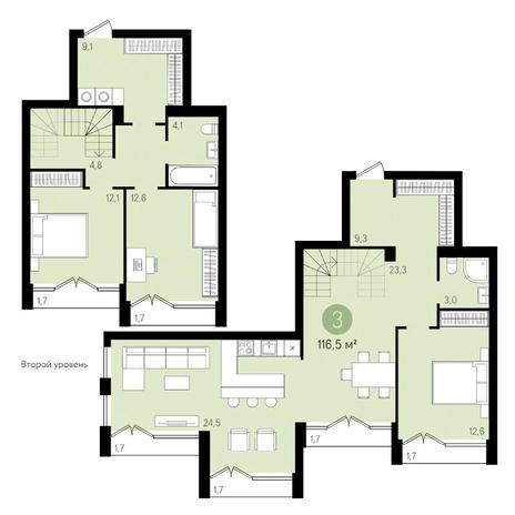 Вариант №3450, 4-комнатная квартира в жилом комплексе Европейский Берег