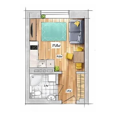 Вариант №3948, 1-комнатная квартира в жилом комплексе БонАпарт