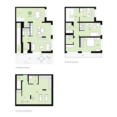 Вариант №5545, 5-комнатная квартира в жилом комплексе