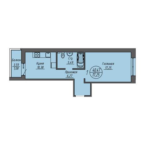 Вариант №3205, 1-комнатная квартира в жилом комплексе Облака