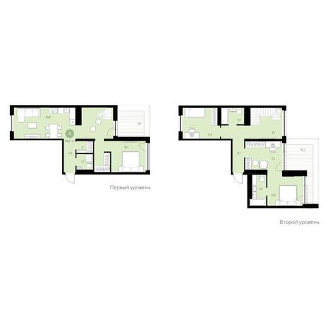 Вариант №4696, 5-комнатная квартира в жилом комплексе Нобель