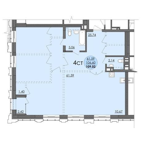 Вариант №4740, 4-комнатная квартира в жилом комплексе Richmond Residence
